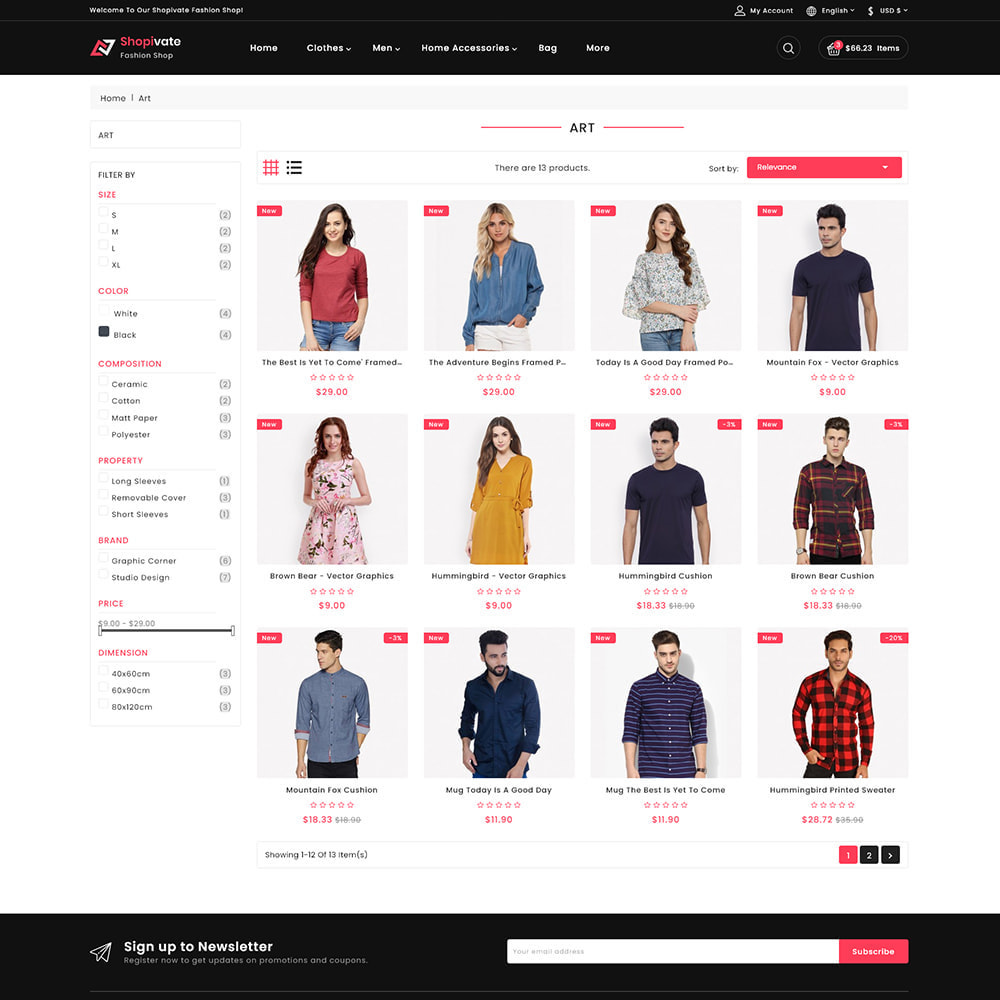 theme - Mode & Schoenen - Shopivate -  The Fashion Shop - 3