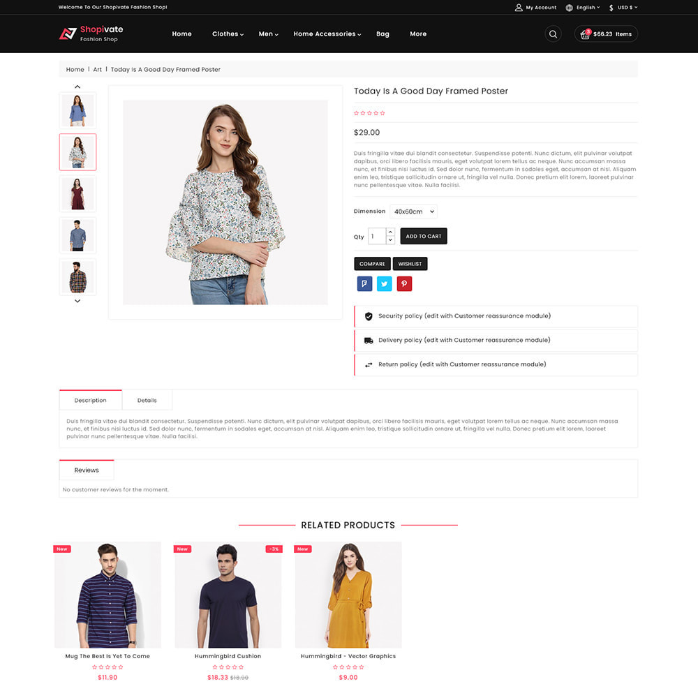 theme - Moda & Calçados - Shopivate -  The Fashion Shop - 5