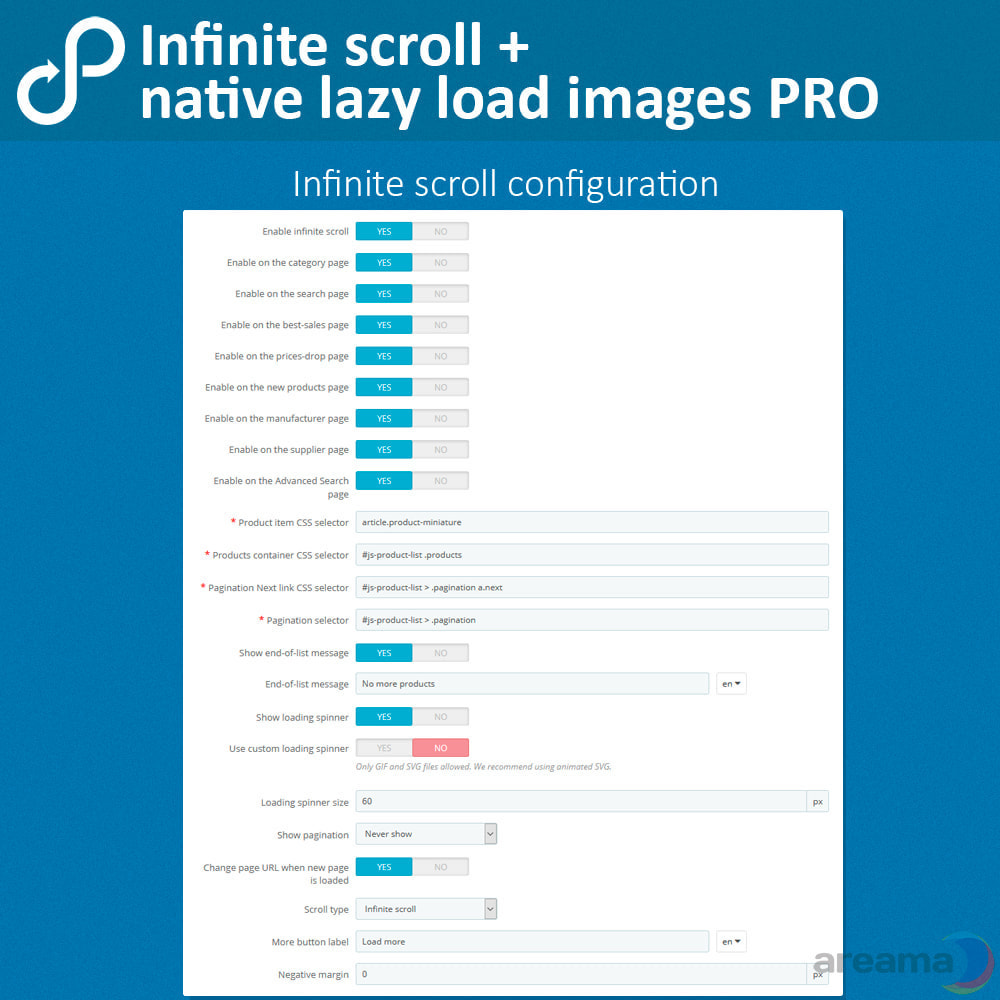 module - Navigation Tools - Infinite scroll + native lazy load images PRO - 4