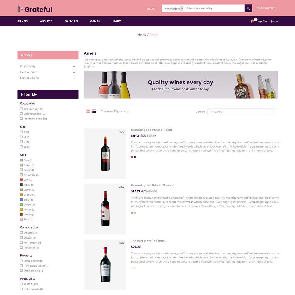 theme - Boissons & Tabac - Magasin de vin rouge de bière alcoolisée - 5