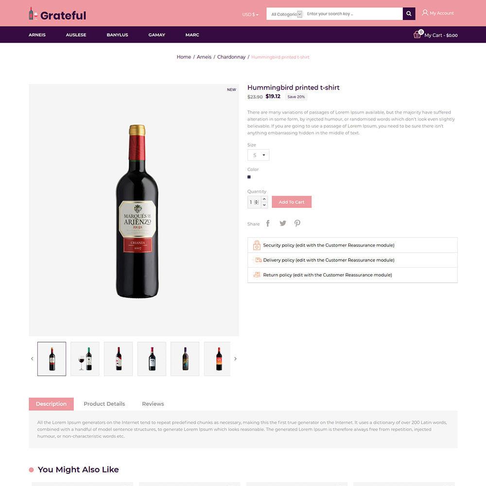 theme - Napoje & Wyroby tytoniowe - Wdzięczne wino - Sklep z piwem czerwonym winem - 6