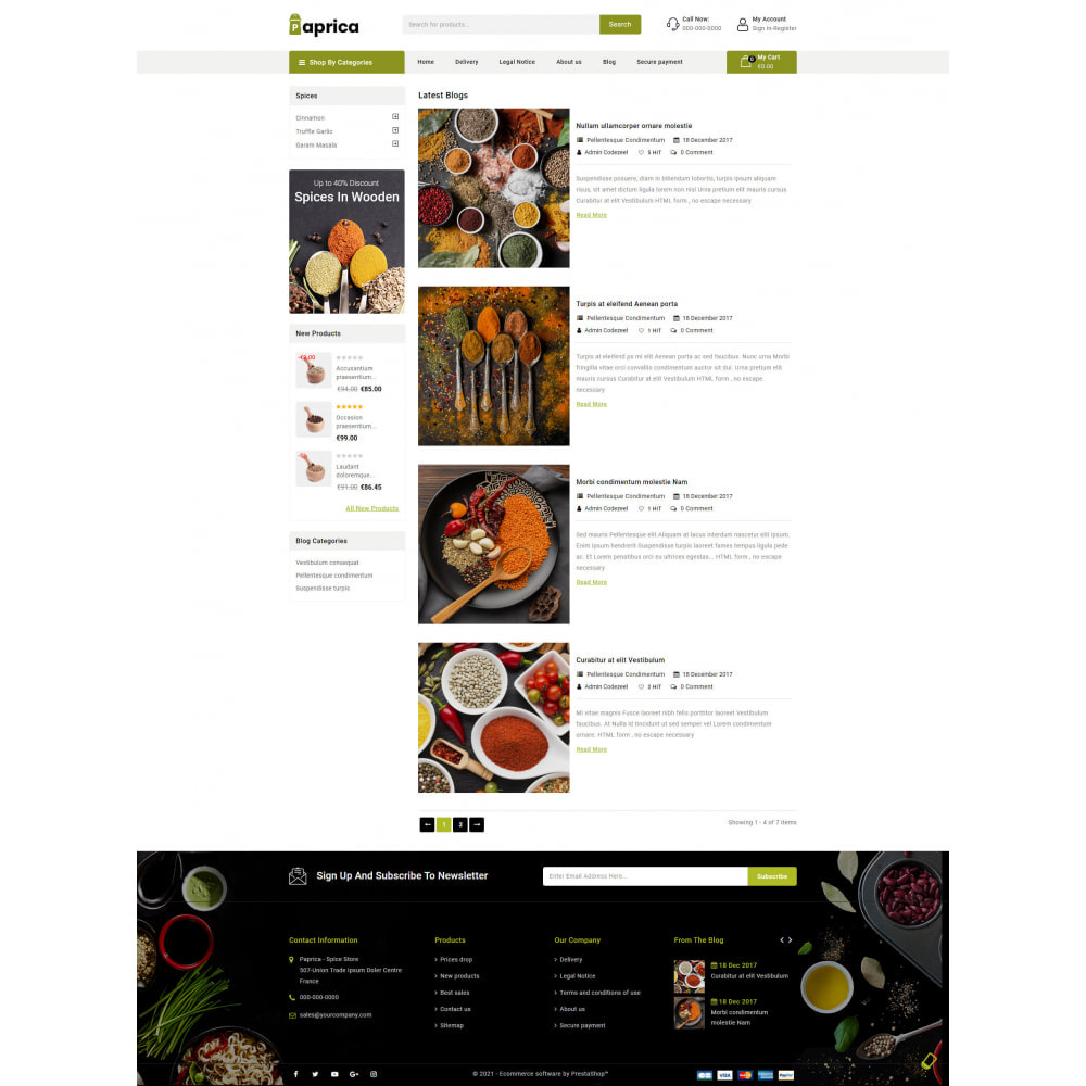 theme - Food & Restaurant - Paprica - Spice Store - 9