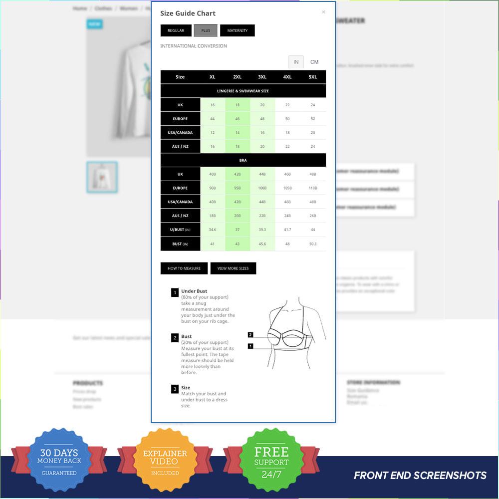 module - Grandezze & Unità di misura - Size Guidance - Product Size Chart - 3