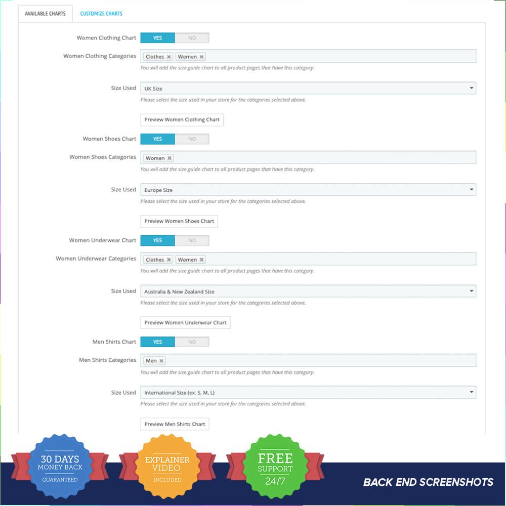 module - Grandezze & Unità di misura - Size Guidance - Product Size Chart - 4