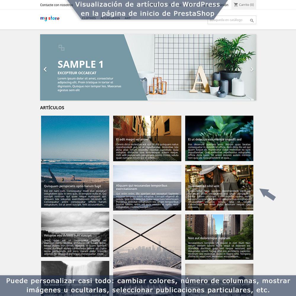 module - Blog, Foro y Noticias - Integración bilateral de PrestaShop y WordPress - 1