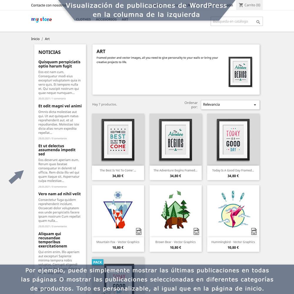 module - Blog, Foro y Noticias - Integración bilateral de PrestaShop y WordPress - 3