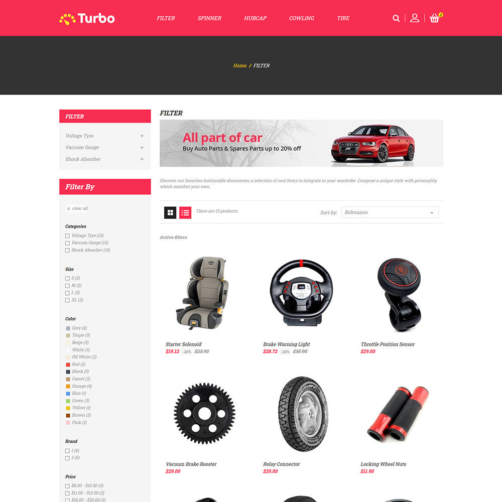 theme - Coches y Motos - Repuestos de motores - Tienda de herramientas para - 4