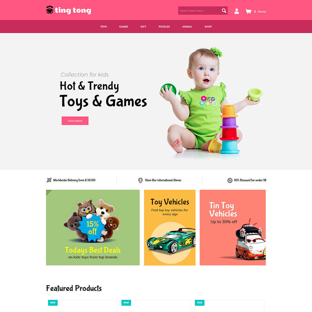 theme - Kids & Toys - Tingtong Kids - Baby Toy Game Store - 1