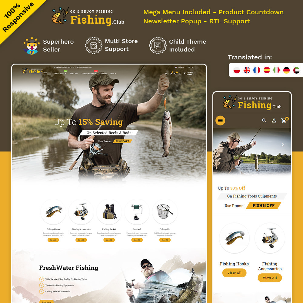 theme - Sport, Aktivitäten & Reise - Fishing club - Equipment Store - 1