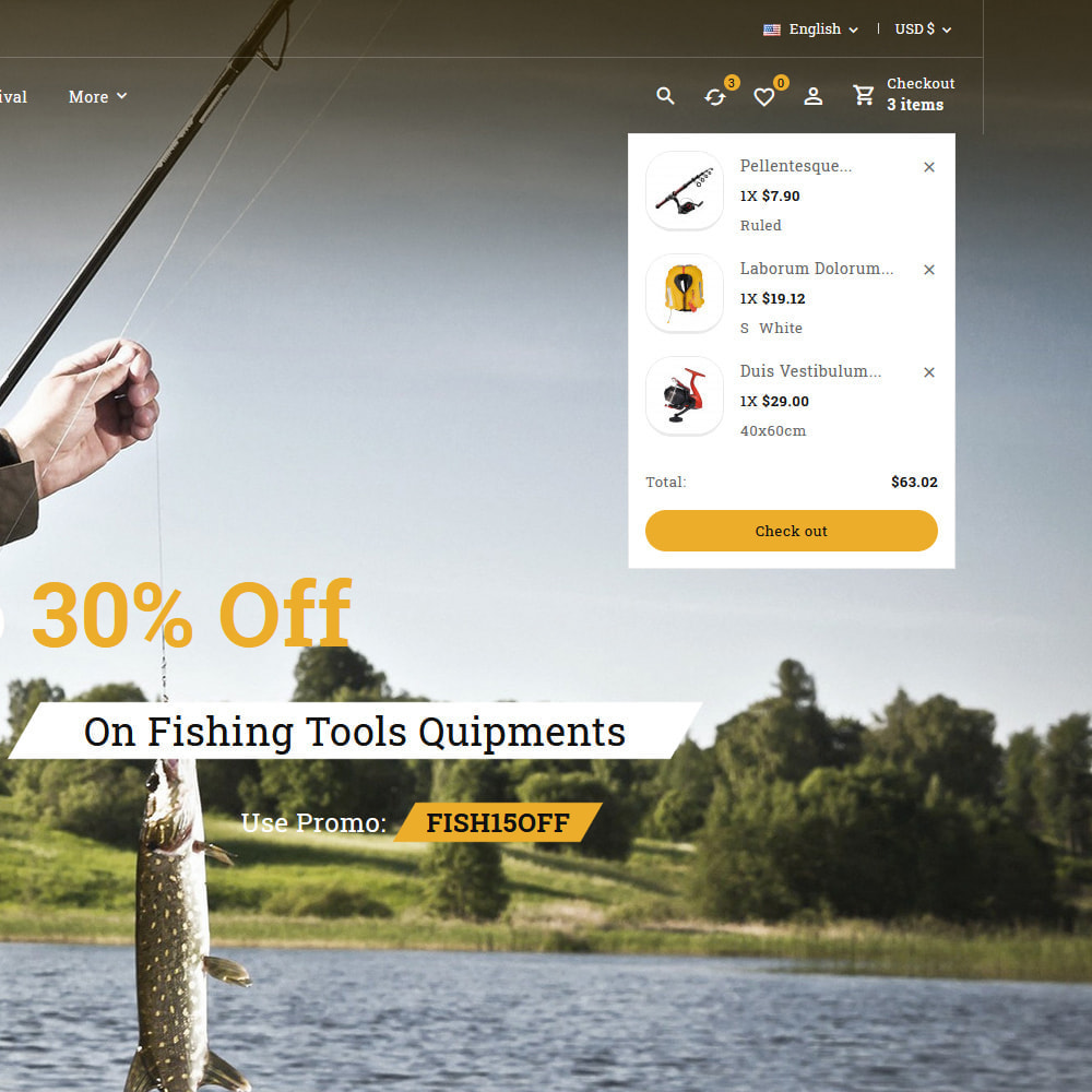 theme - Sport, Aktivitäten & Reise - Fishing club - Equipment Store - 13