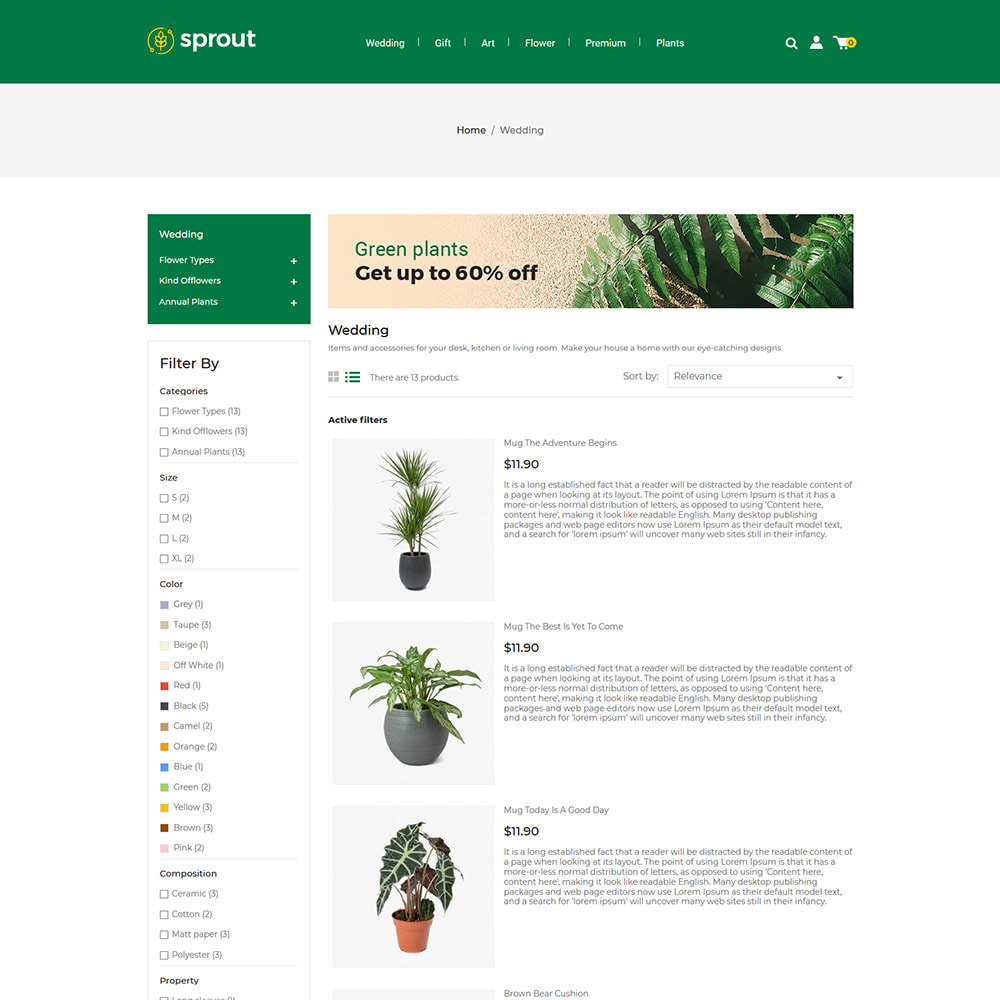 theme - Home & Garden - Sprout Plant - Tree  Natural Flower Store - 3