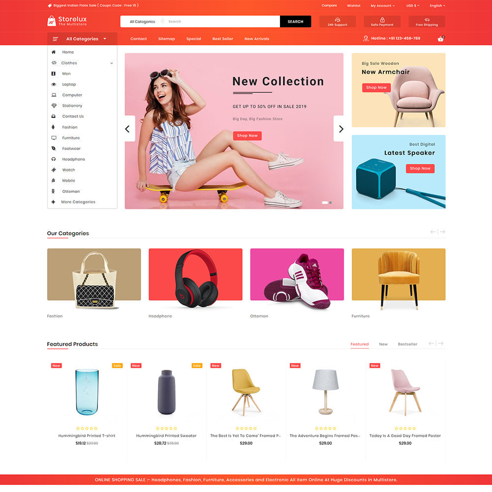theme - Elettronica & High Tech - Storelux - Multipurpose Furniture Store - 2