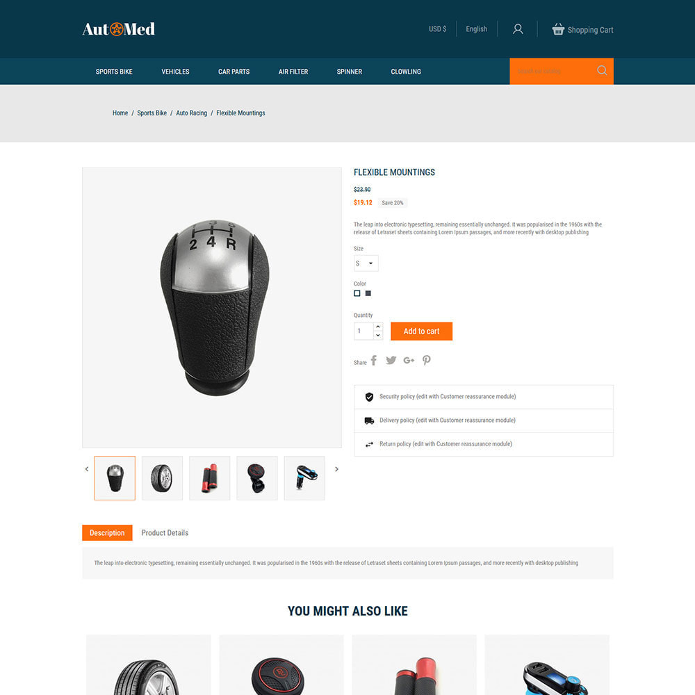 theme - Automotive & Cars - Automed  - Tool Auto Car Accessories Store - 4
