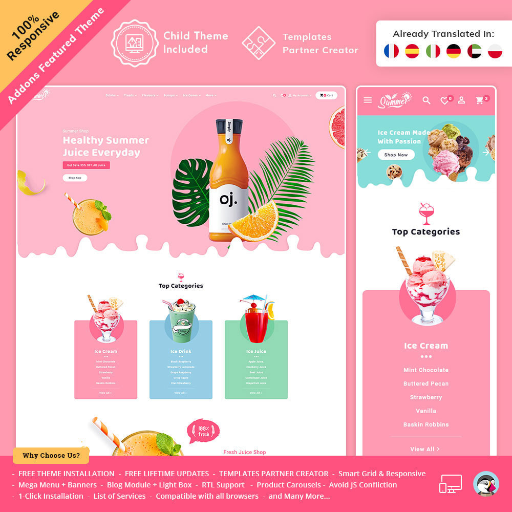 theme - Getränke & Tabak - Summer Juices & Shakes - 2
