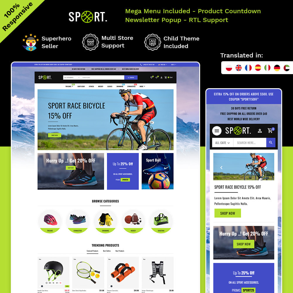 theme - Sports, Activities & Travel - Sports - Travel Store - 1