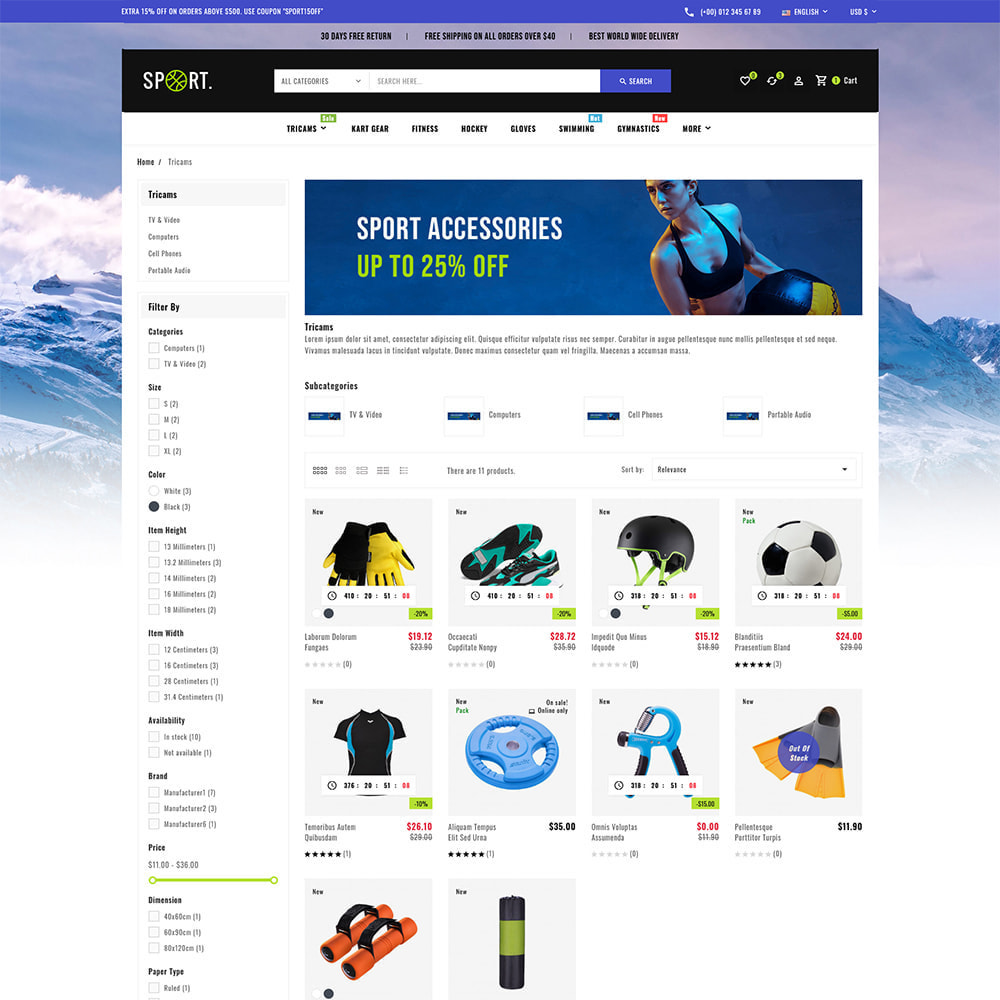 theme - Sports, Activities & Travel - Sports - Travel Store - 5