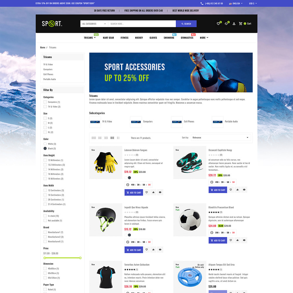 theme - Sports, Activities & Travel - Sports - Travel Store - 6