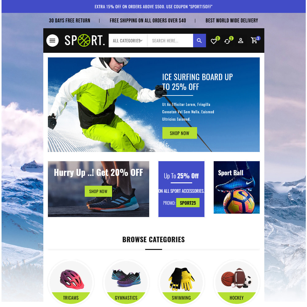 theme - Sports, Activities & Travel - Sports - Travel Store - 15