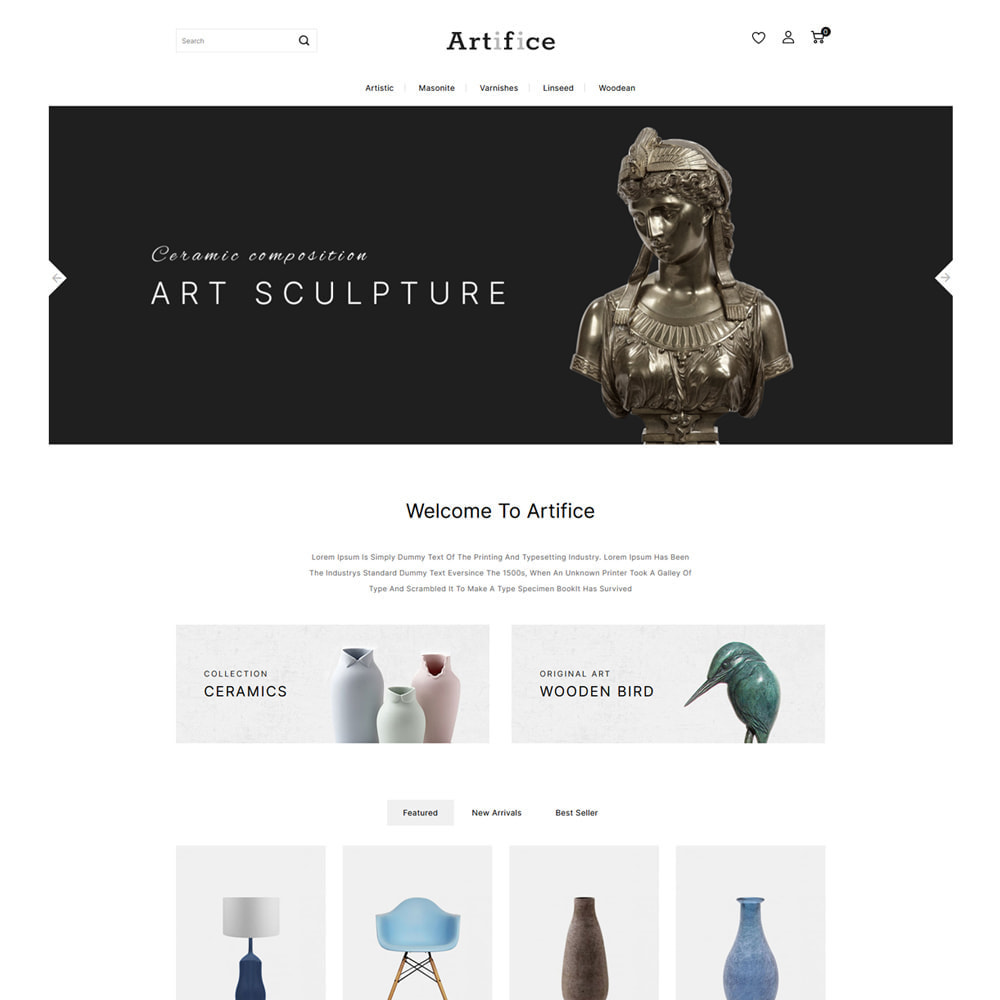 theme - Arte y Cultura - Artifice Art & Culture Online Store - 2