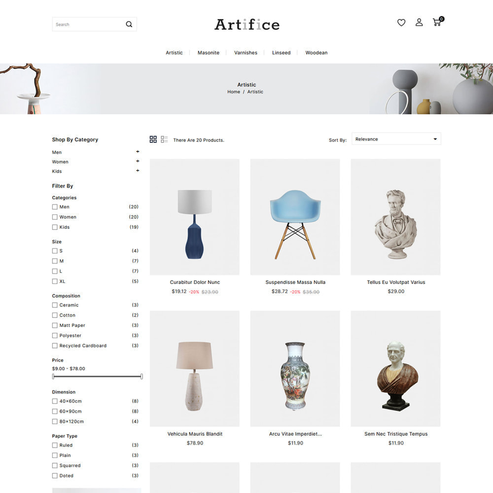theme - Arte y Cultura - Artifice Art & Culture Online Store - 3