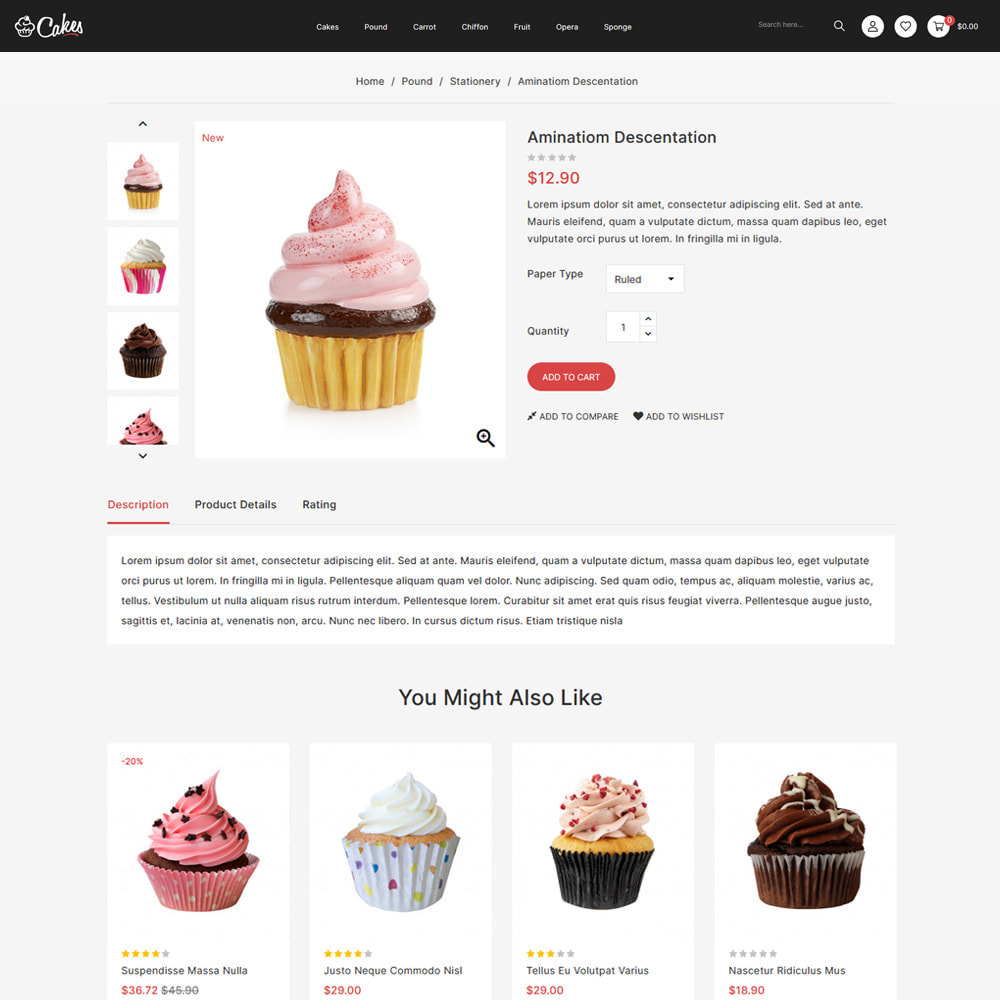 theme - Food & Restaurant - Cakes - Cake & Chocolate Store - 4