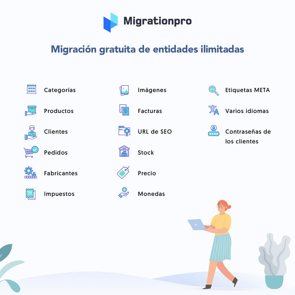 module - Migración y Copias de seguridad - Herramienta de migración de Magento a PrestaShop - 2