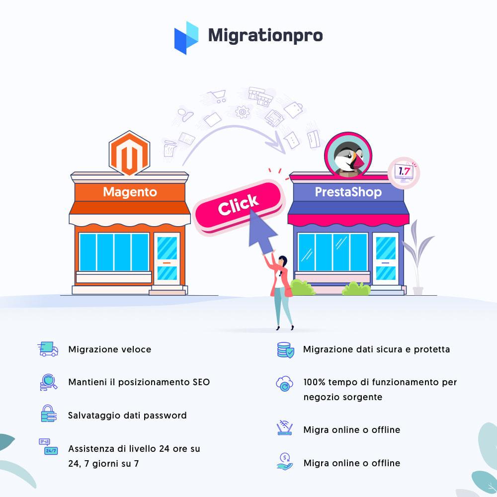 module - Data Migration & Backup - Strumento di migrazione da Magento a PrestaShop - 1