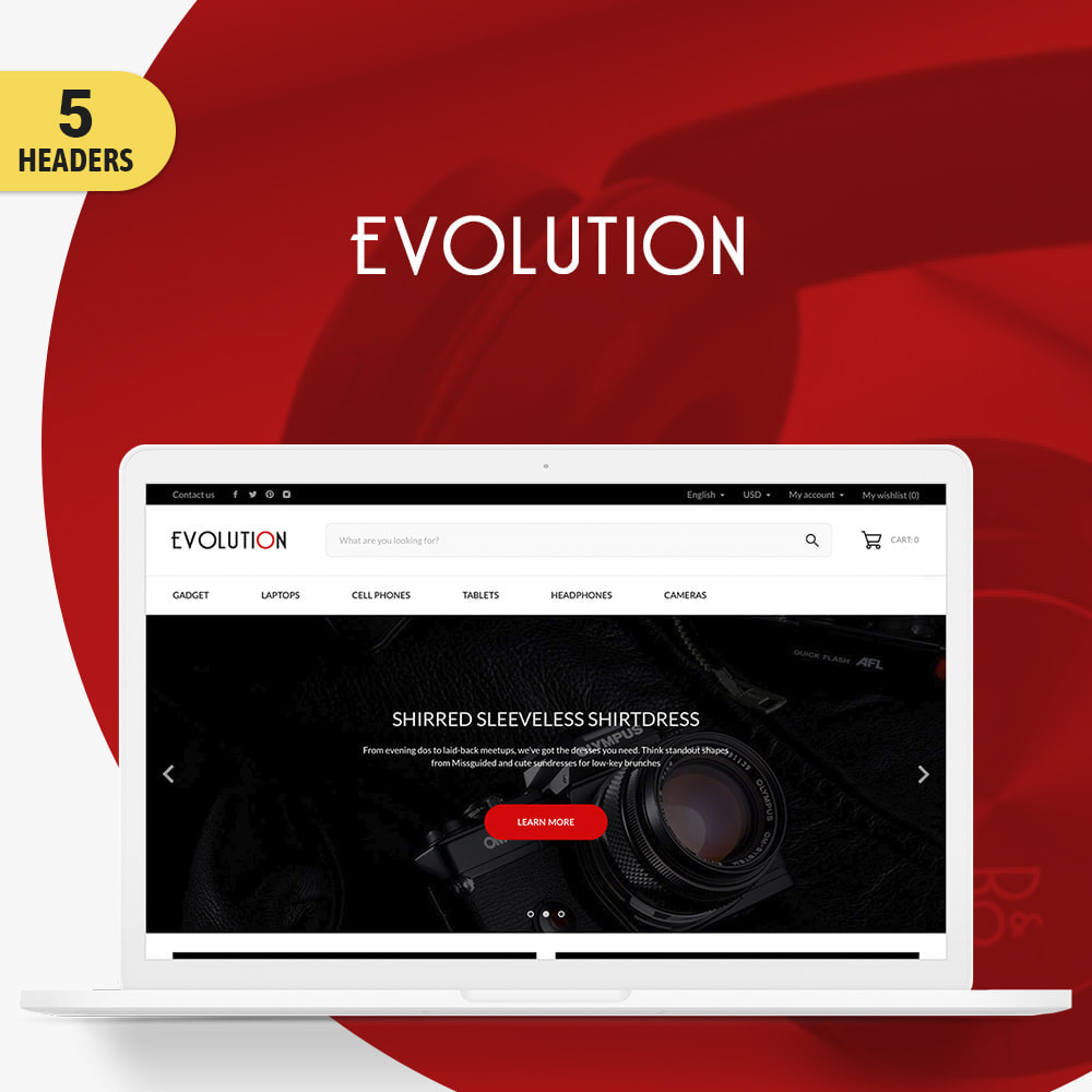theme - Eletrônicos & High Tech - Evolution - High-tech Shop - 1