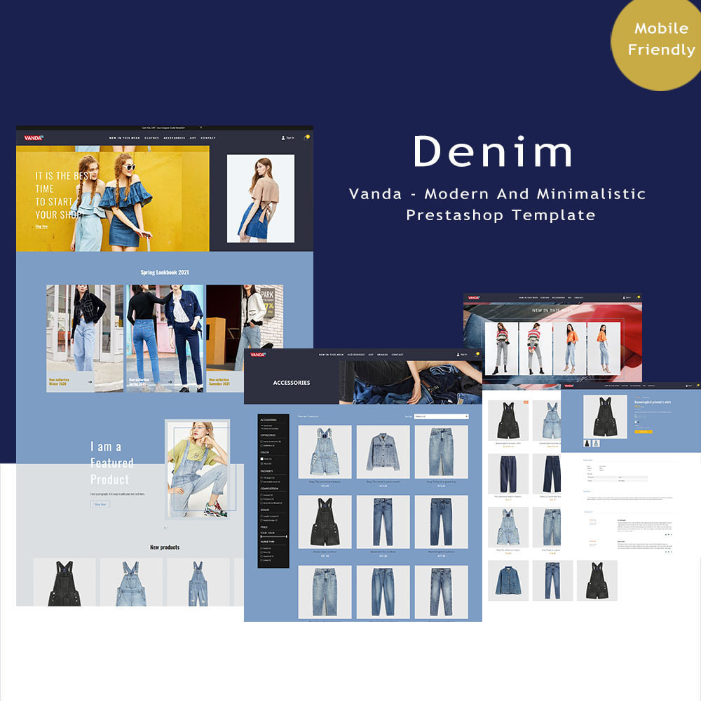theme - Fashion & Shoes - Vanda Denim Shop - 1