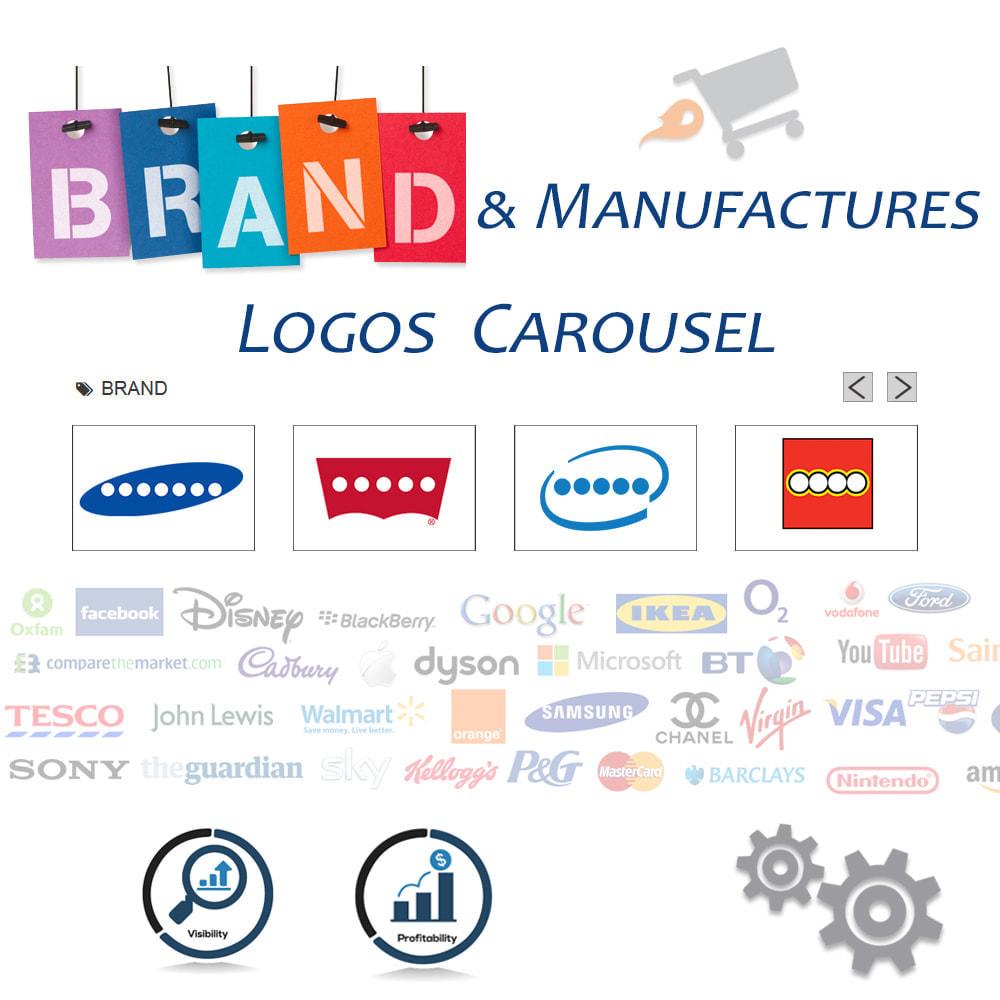 module - Слайдеров (карусельных) и галерей - Brand Slider. Brands & Manufacturers Logos Carousel - 1