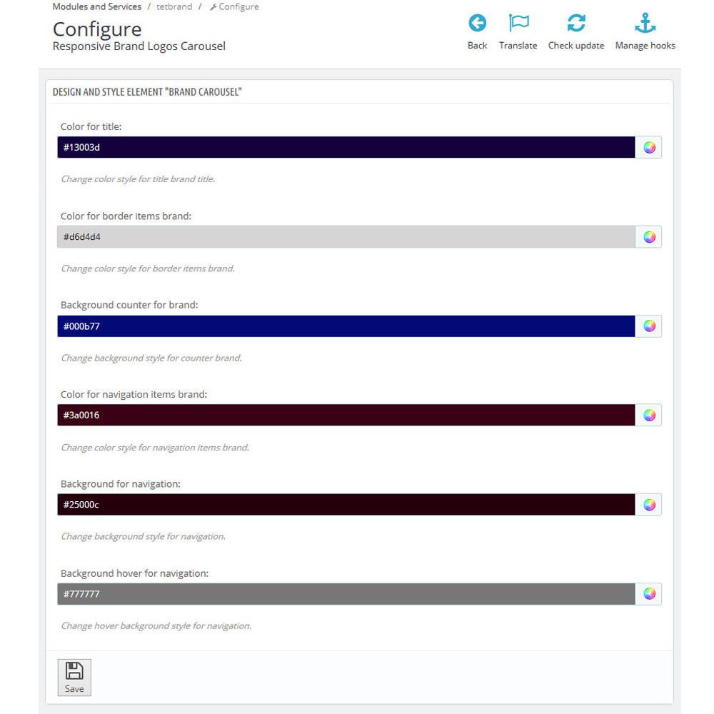module - Слайдеров (карусельных) и галерей - Brand Slider. Brands & Manufacturers Logos Carousel - 8