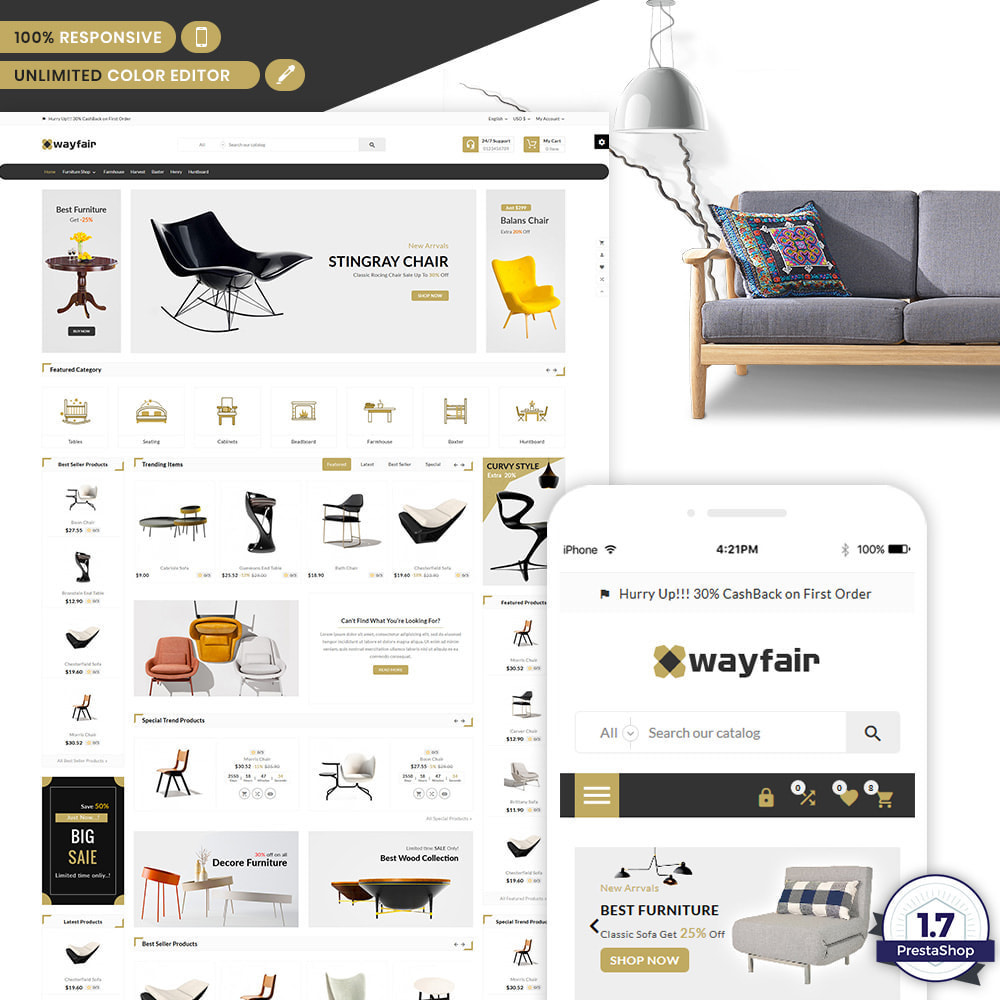 theme - Casa & Jardins - Wayfair Furniture  - Furniture Shop - 1