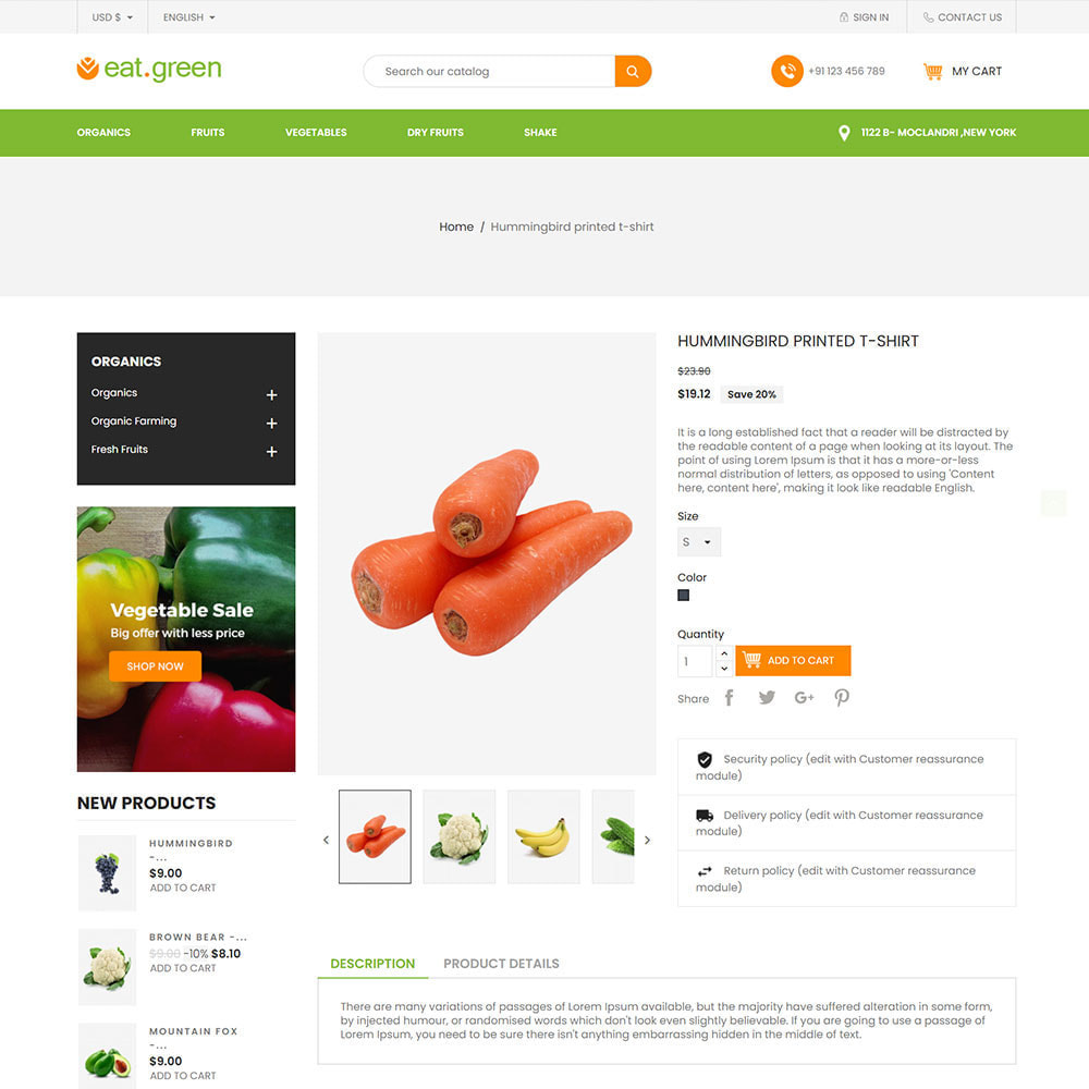 theme - Продовольствие и рестораны - Eat Green - Fruit Vegitable Organic Food Store - 5