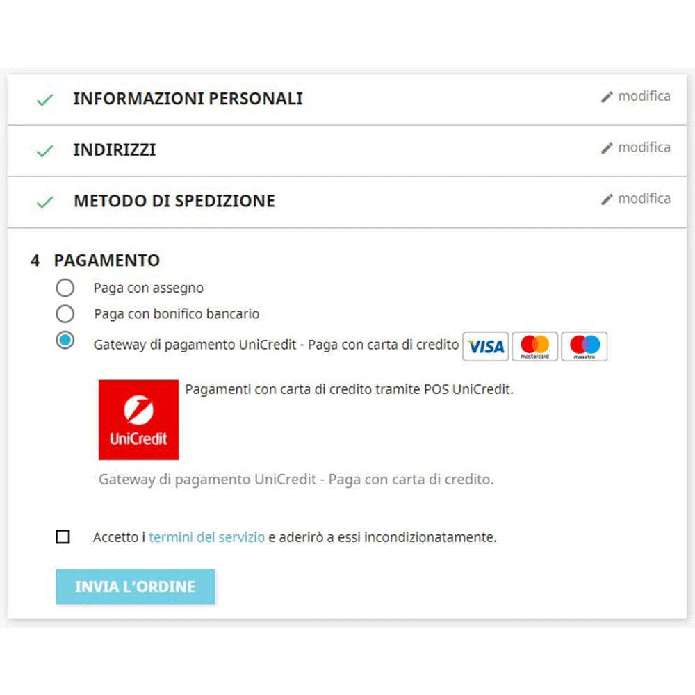 module - Pagamento con Carta di Credito o Wallet - UniCredit PagOnline Gateway di Pagamento - 2