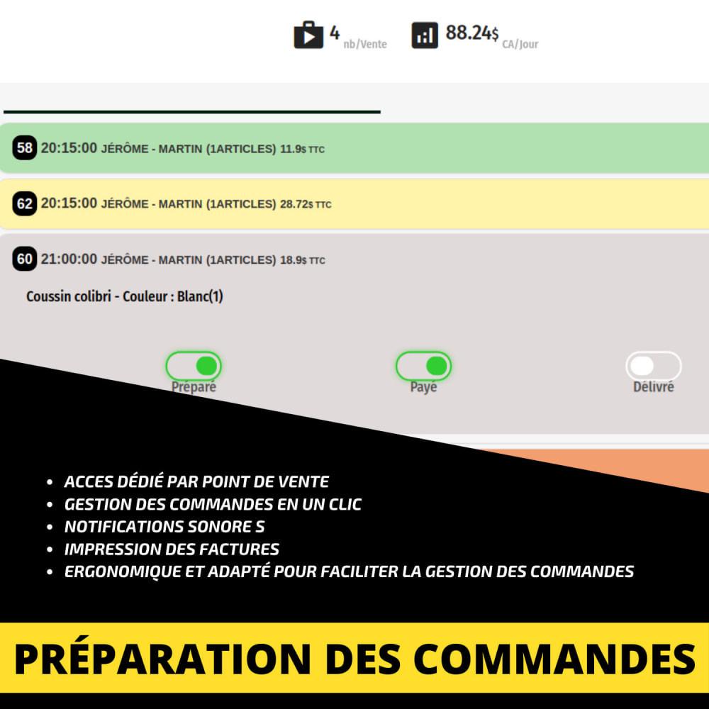 module - Point Relais & Retrait en Magasin - Click'n collect/Drive - à emporter sur créneaux horaire - 8