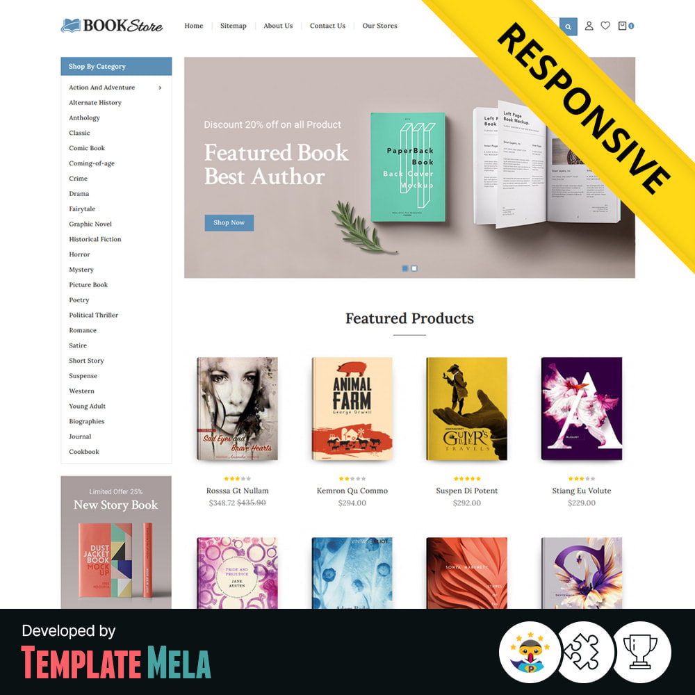 theme - Art & Culture - Books & Stationery Store - 1