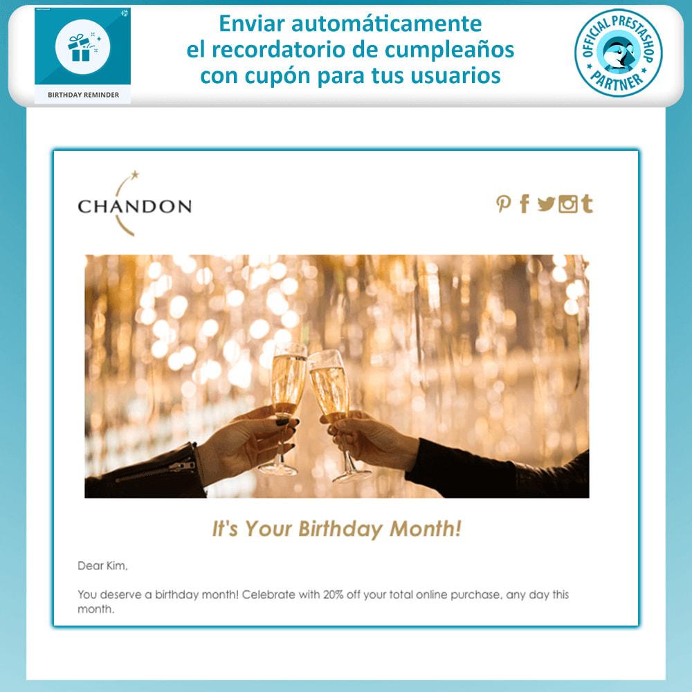 module - Remarketing y Carritos abandonados - Birthday Reminder - 2