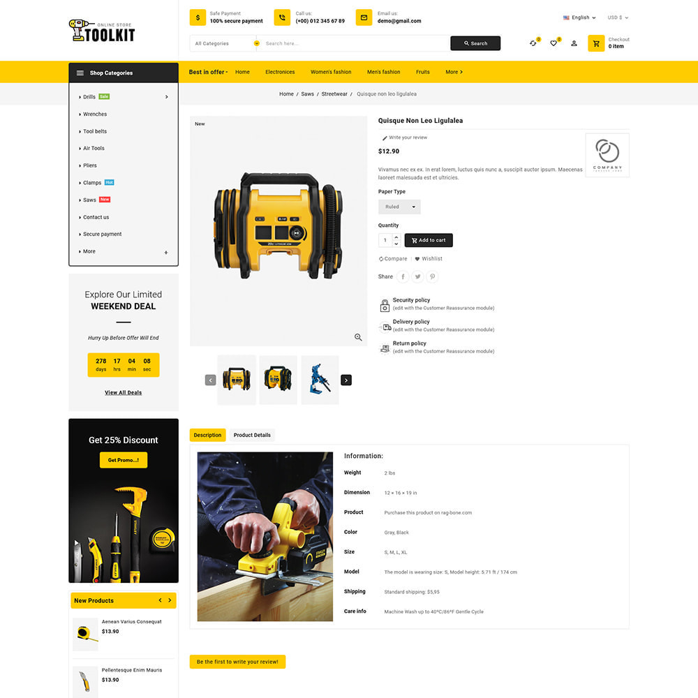 theme - Electronics & Computers - Toolkit - Mega Tools Store - 9