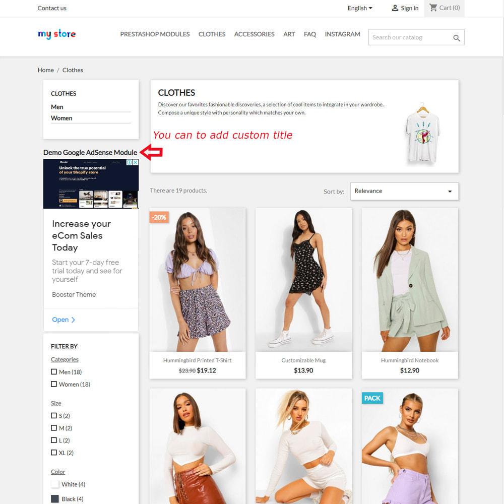 module - Promotions & Marketing - Google AdSense Ads Integration - 4