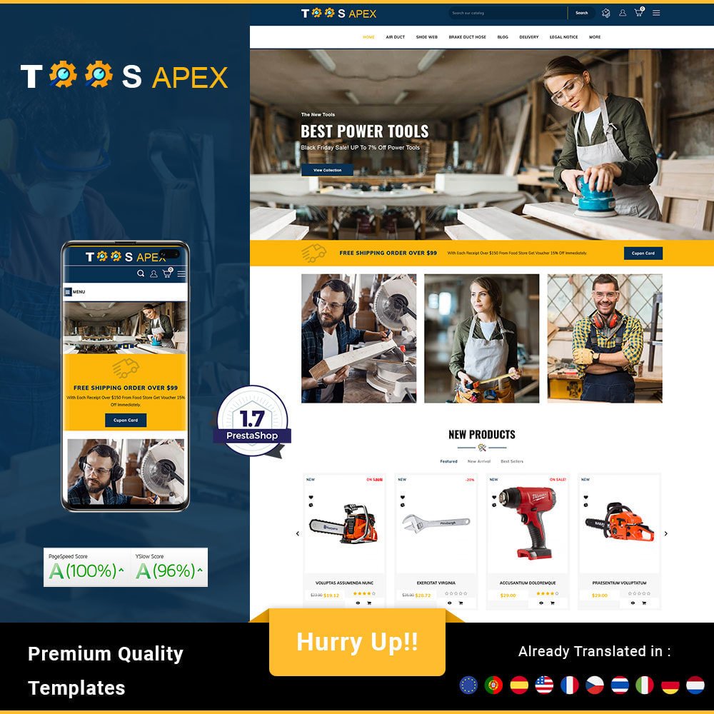 theme - Automotive & Cars - Toolsapex - Tools Store - 1