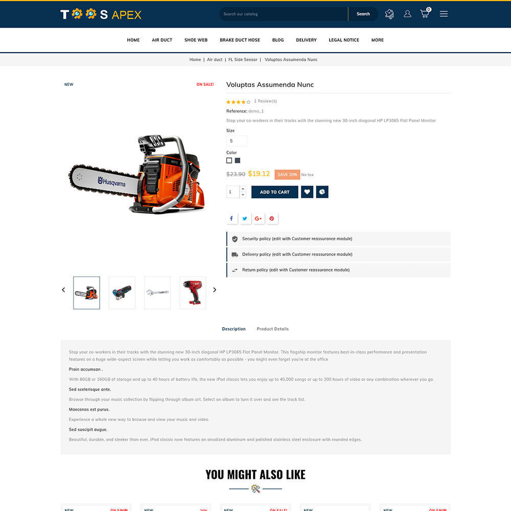 theme - Automotive & Cars - Toolsapex - Tools Store - 4