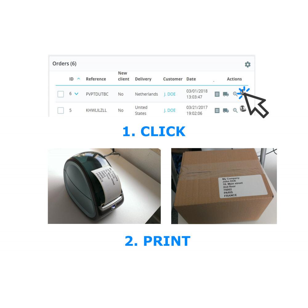 module - Подготовка и отправка - Address / Order Labels - Direct Label Print - 1