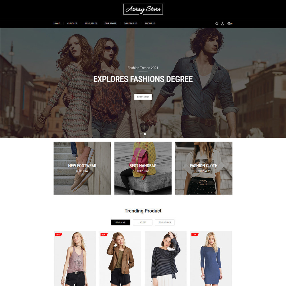 theme - Fashion & Shoes - Array Fashion Store - 2