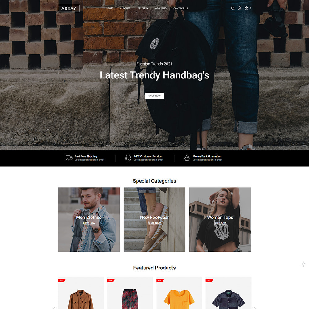 theme - Мода и обувь - Array Fashion Store - 4