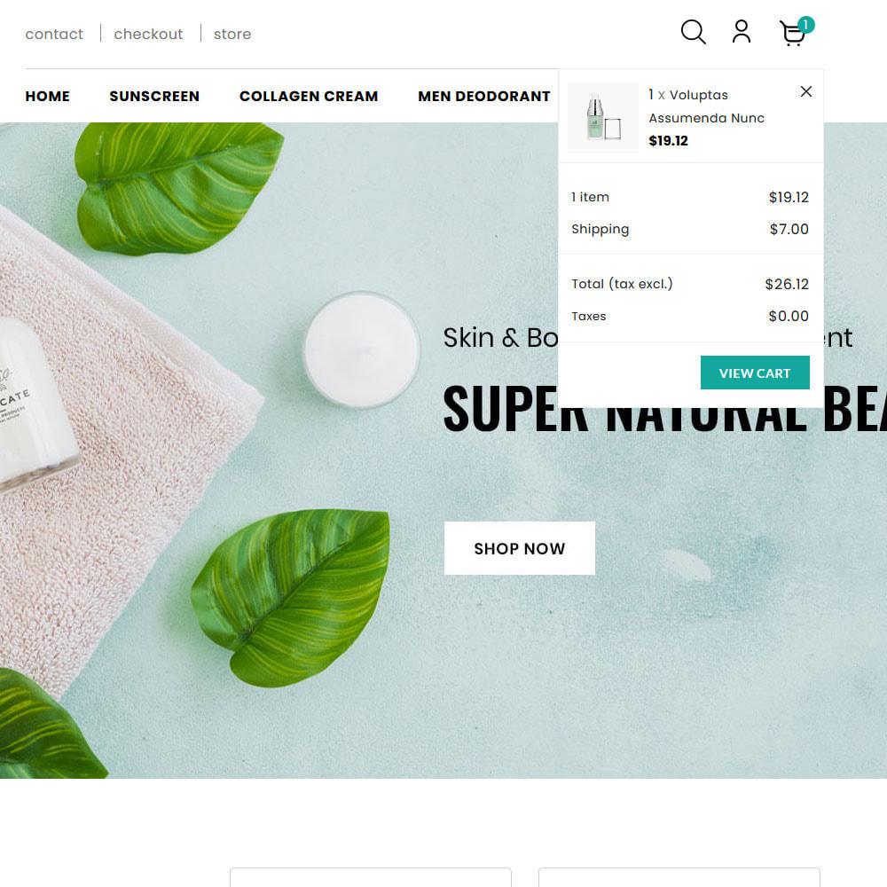 theme - Salute & Bellezza - Glamino - Cosmetic Store - 2
