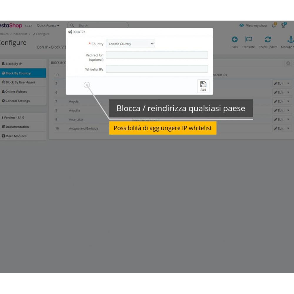 module - Security & Access - Blocca IP e visualizza posizione / indirizzo - 5