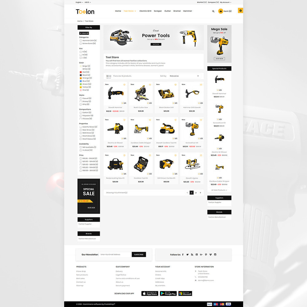 theme - Autos & Motorräder - Toolon Mega Tools Super Store - 5