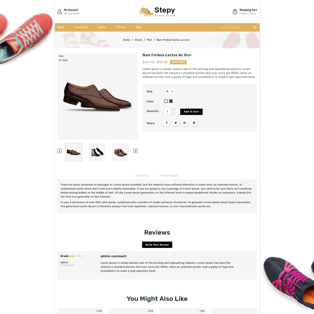theme - Moda & Obuwie - Stepy - Shoes Store - 4