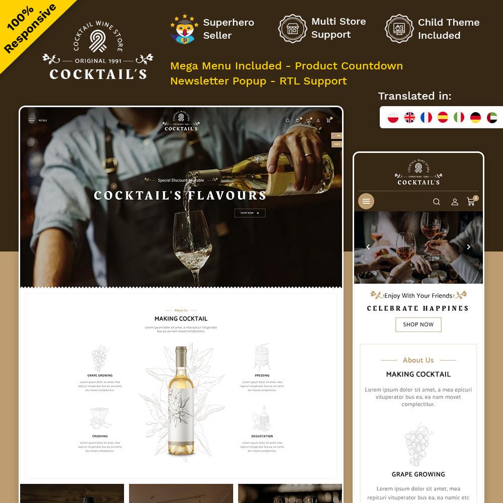 theme - Bebidas y Tabaco - Cocktail - Wine – Alcohol Cigarettes Drink Store - 1