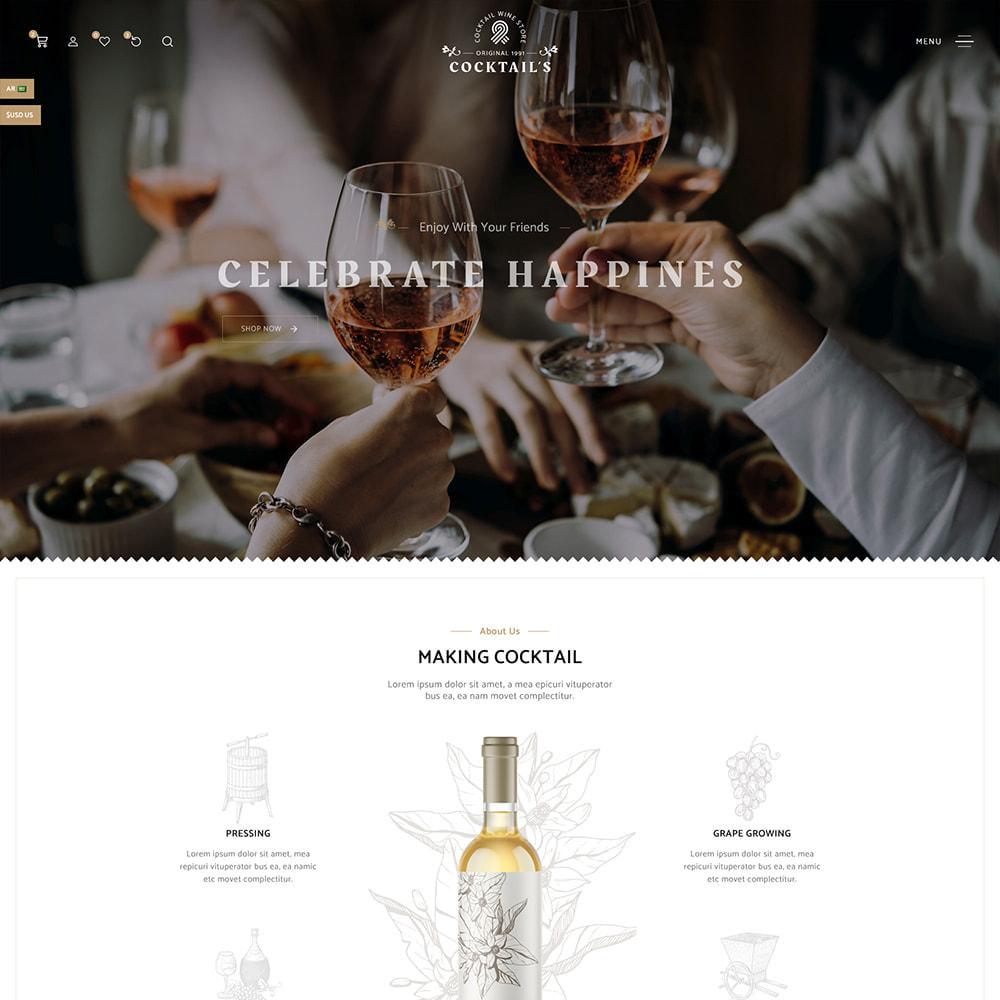 theme - Bebidas y Tabaco - Cocktail - Wine – Alcohol Cigarettes Drink Store - 3